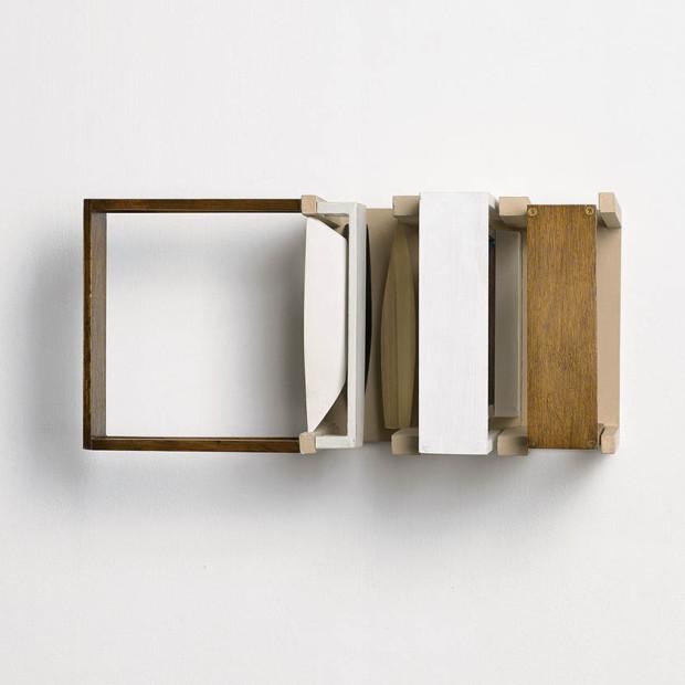 Nahum Tevet, Double Periscope, 2010, acrylic and industrial paint on wood, 16 x 35 x 16 cm