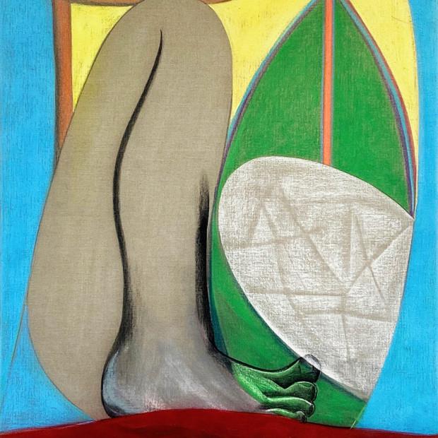 Aurelie Gravas - Big Composition 1 (Yellow Foot), 2021