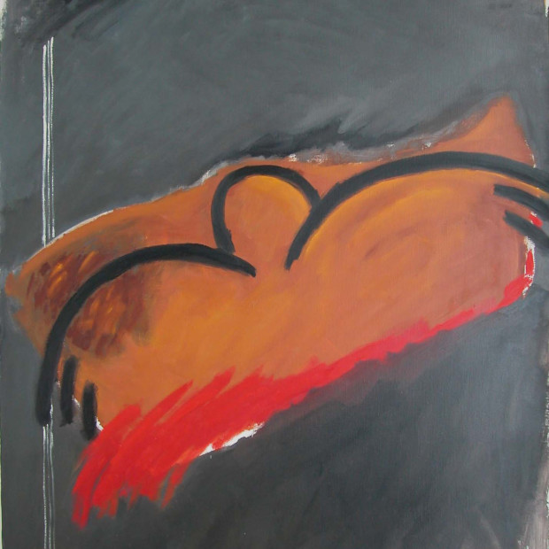 Agnes Maes, 'Dead Bird', 1983, oil on canvas, 195 x 145 cm.