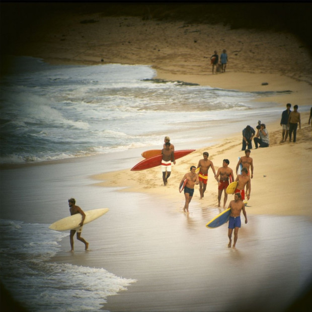 LeRoy Grannis - Duke Contest Finalists, Sunset Beach, 1968