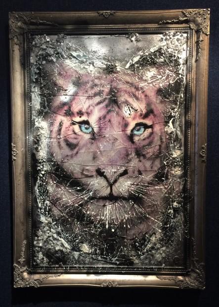Dan Pearce, Endangered - Siberian Tiger - Silver Ornate Frame, 2018