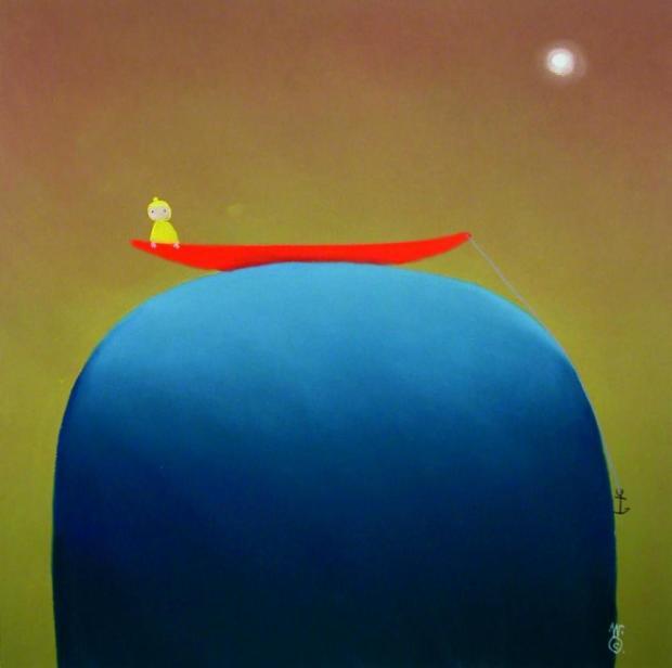 Mackenzie Thorpe, At Sea, 2006