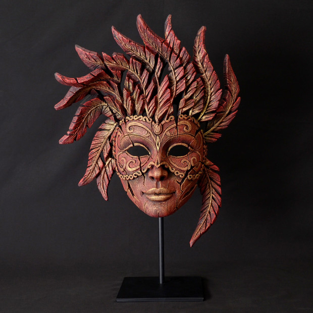 Matt Buckley, Venetian Carnival Mask - Venetian Red & Gold