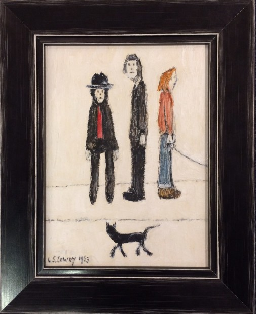 Peter Osborne, LS Lowry - Three Men And A Cat, 2018