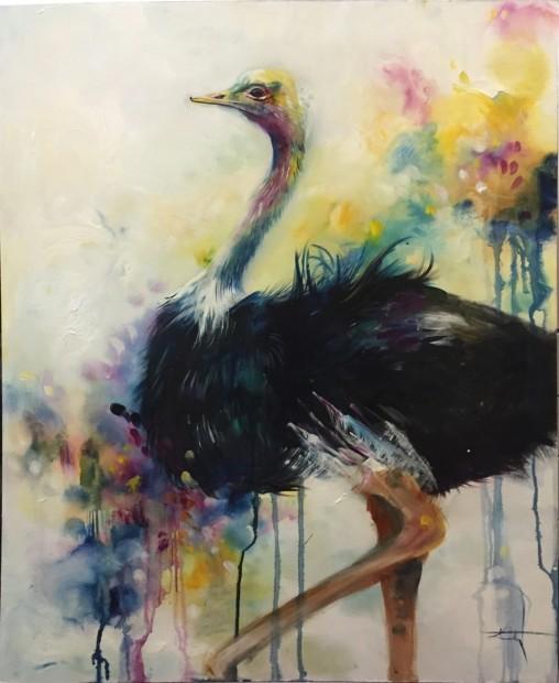 Katy Jade Dobson, Ostrich - Original, 2016