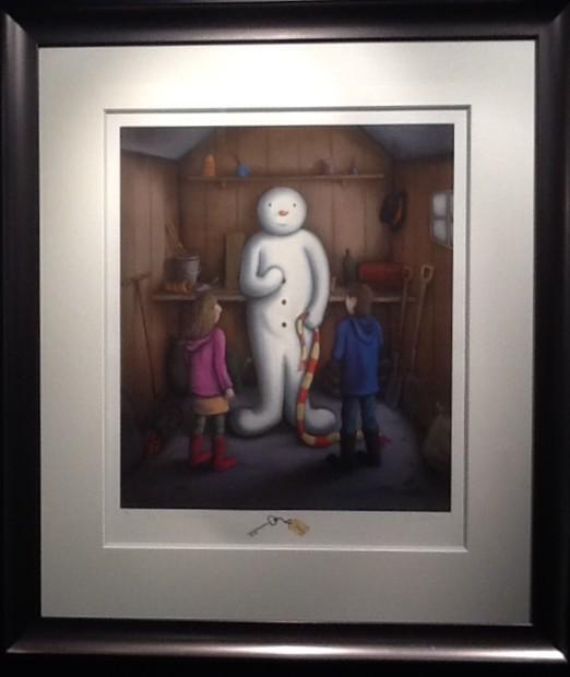 Paul Horton, The Secret Snowman - Artist Remarque
