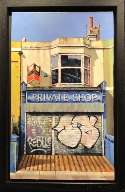 Marc Gooderham XXX, 2019 Framed Original acrylic on canvas Framed Size: 13 x 20 in Framed Size: 33 x 50.8 cm