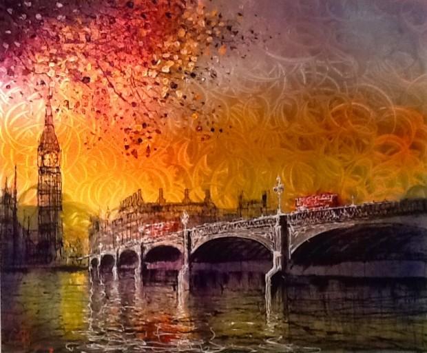Nigel Cooke, Autumn Shimmer, 2018