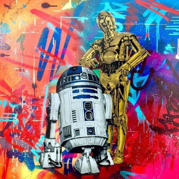Lee Henderson, These Aren't The Droids You're Looking For, 2018