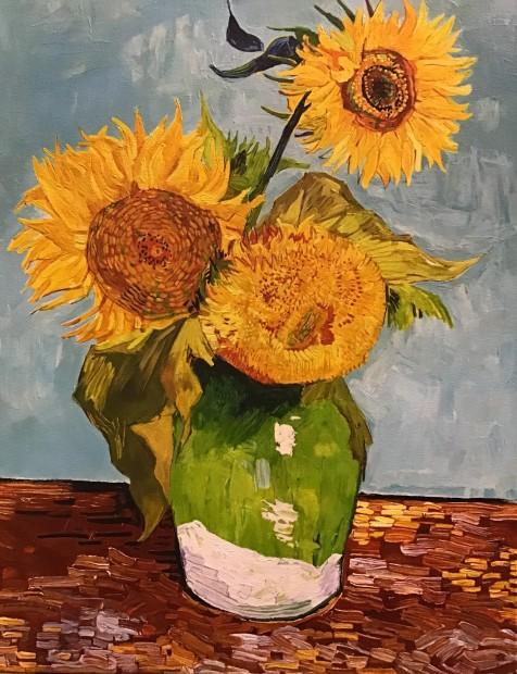 Peter Osborne Lausanne Sunflowers - Vincent Van Gogh , 2019 Framed Original on Canvas Image Size 30 x 24 in Image Size 76.2 x 61 cm