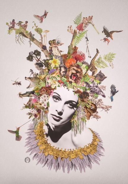 Maria Rivans, Eve (Hedy Lamarr) - 24ct Gold , 2018