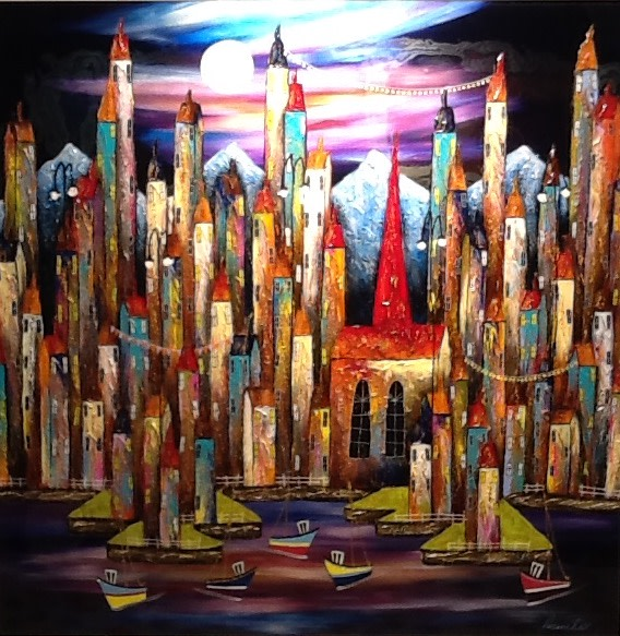 Rozanne Bell, Guilded Spires, 2018