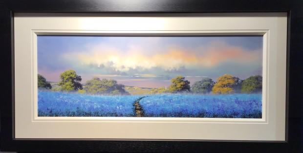 Allan Morgan Blueberry Hill, 2019 Original On Board Framed Size: 26 3/8 x 51 1/8 in Framed Size: 67 x 130 cm