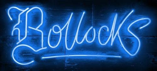 Courty Neon Art, Bollocks - Electric Blue, 2018