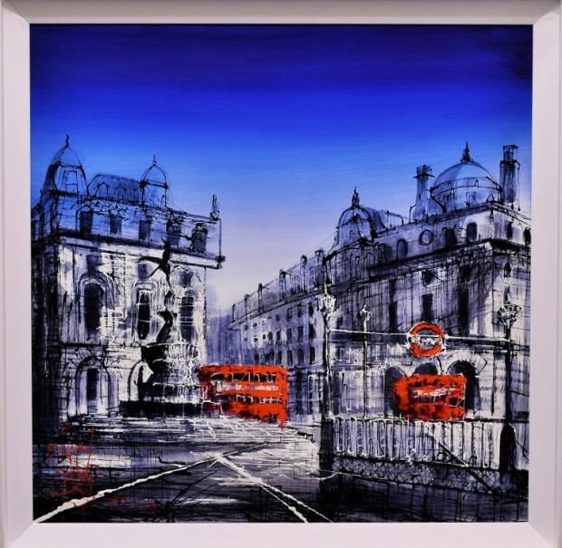 Nigel Cooke, Blue Skies Over London, 2017