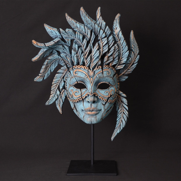 Matt Buckley, Venetian Carnival Mask - Teal