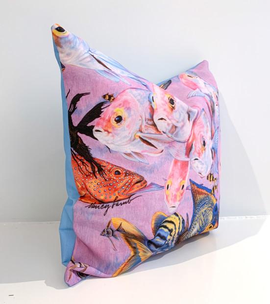 The Nancy Lamb Shop, Outdoor Throw Pillows | Aquarium Adventure