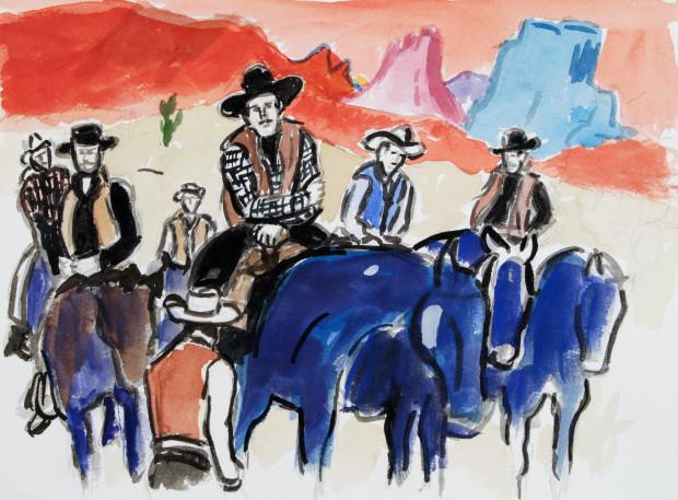 Linda Blackburn, Blue Riders, 2016