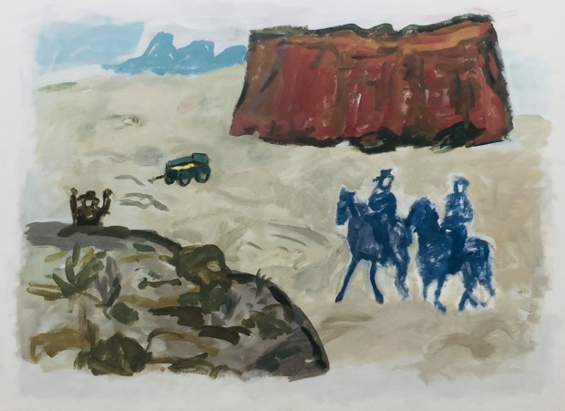 Linda Blackburn, Blue Riders #2, 2018