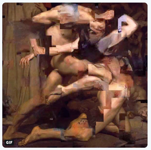 Correction of Bouguereau's Dante and Virgil in Hell