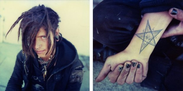 Mike Brodie, Sleepy Chris // Dolores Park // San Francisco, California (diptych), 2005