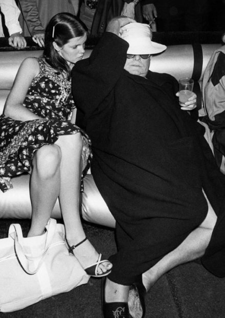 Ron Galella, Kate Harrington and Truman Capote at Studio 54, New York, June 22, 1978