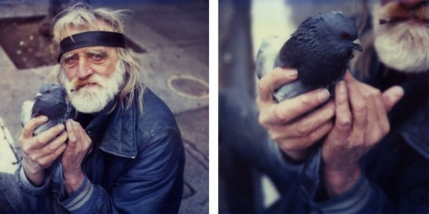 Mike Brodie, The Bird Man // Mission Street // San Francisco, California (diptych), 2005