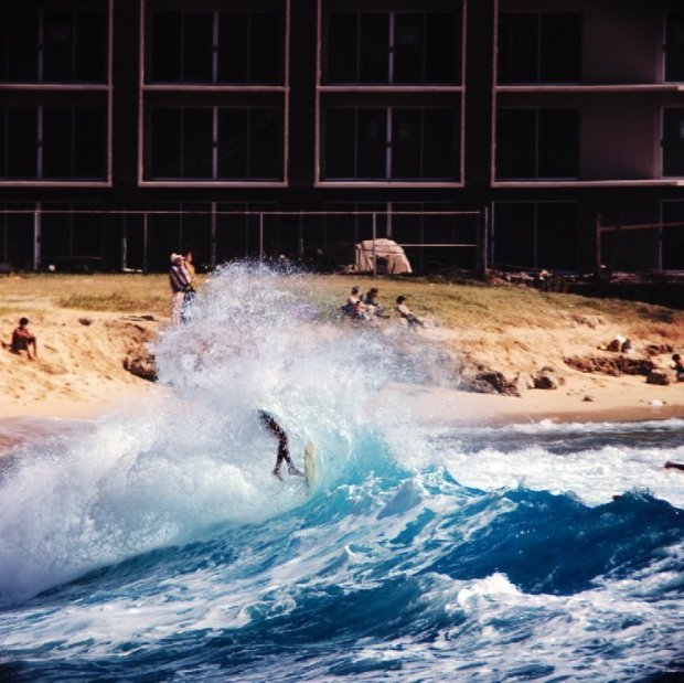 LeRoy Grannis, Makaha Shorebreak (No. 69), 1968