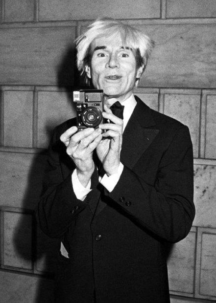 Ron Galella, Andy Warhol at the CFDA Awards Dinner honoring James Galanos at the New York Public Library, New York, January 13, 1985