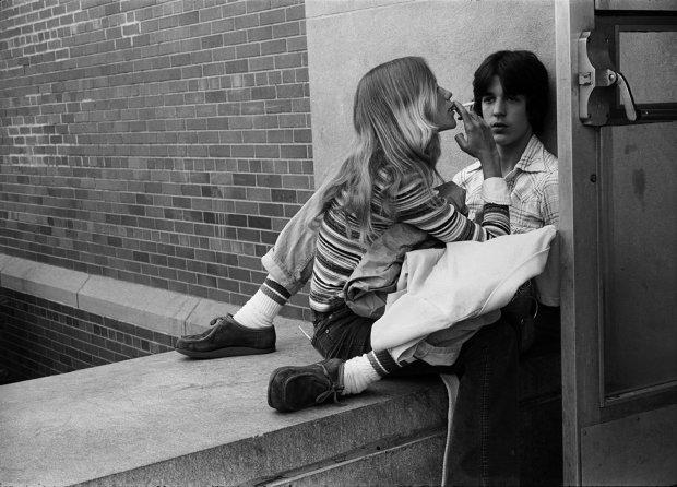 Joseph Szabo, Anthony and Terry, Lunch Break, 1977