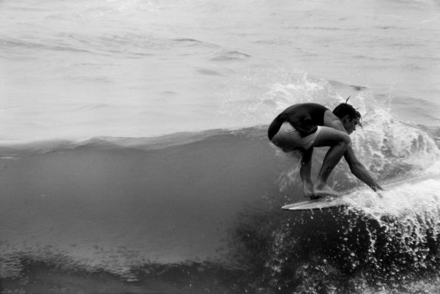 LeRoy Grannis, Ron Sizemore Backs into Third, D&W Surf Championships, Delrey Beach, 1963