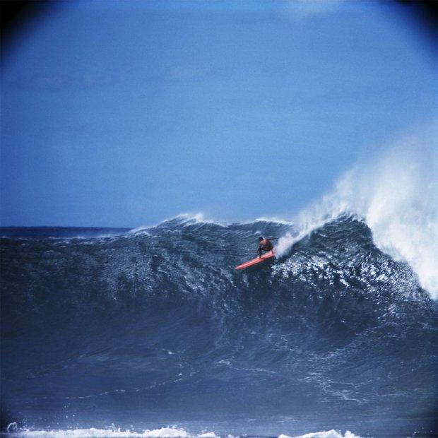 LeRoy Grannis, Kimo Hollinger, Waimea Bay, 1966