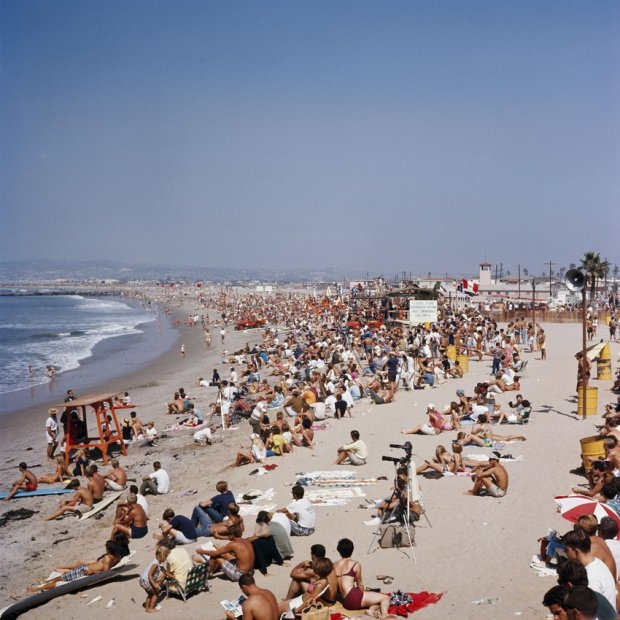 LeRoy Grannis, The World Surfing Contest, Ocean Beach, San Diego, 1966