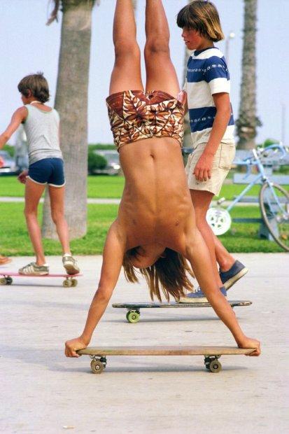 Hugh Holland, Handstanding on the Beach, Danny Kwock, Balboa (No. 67), 1975