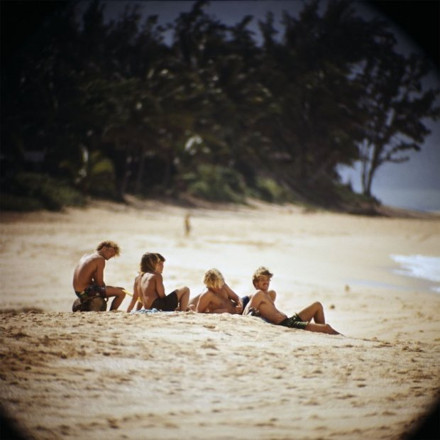 LeRoy Grannis, Watching Surfers, Sunset Beach, 1967