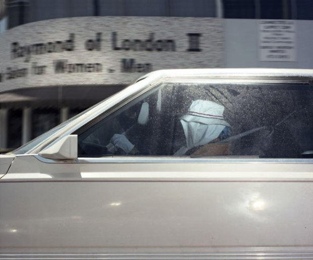Andrew Bush, Woman pausing at a Beverly Hills intersection at 2:22 p.m. on September 12, 1990, 1990