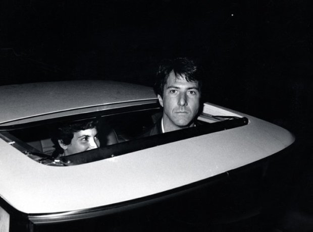 Ron Galella, Dustin Hoffman outside Chasen's Restaurant, Beverly Hills, CA, October 7, 1979