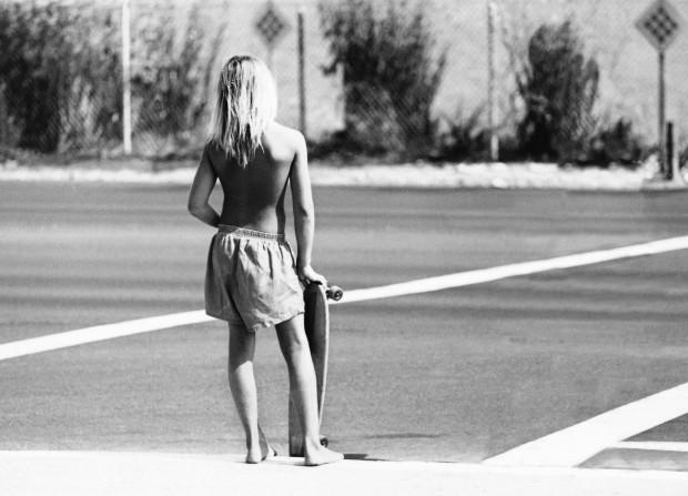 Hugh Holland, Skater Crossing, CA, 1975