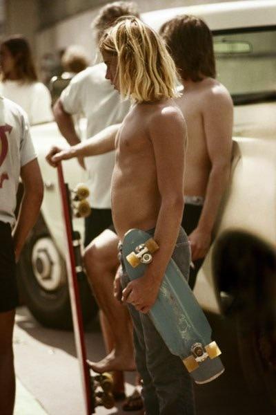 Hugh Holland, Gold Skater, San Diego, 1975