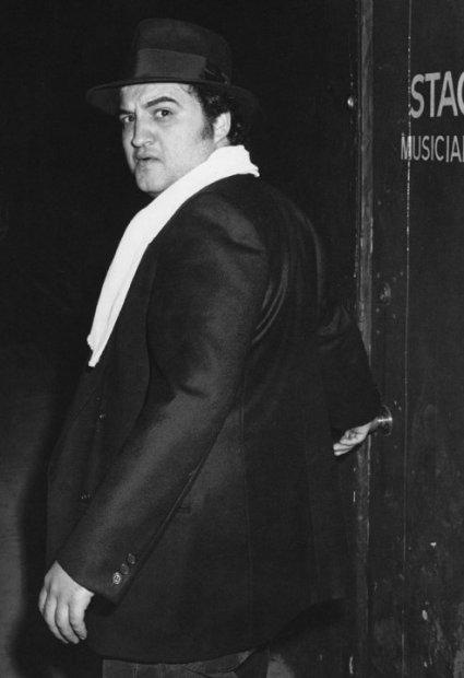 Ron Galella, John Belushi backstage at The Roxy, Los Angeles, April 7, 1978