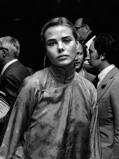 Ron Galella, Margaux Hemingway at the Straw Hat Awards, New York, May 29, 1975