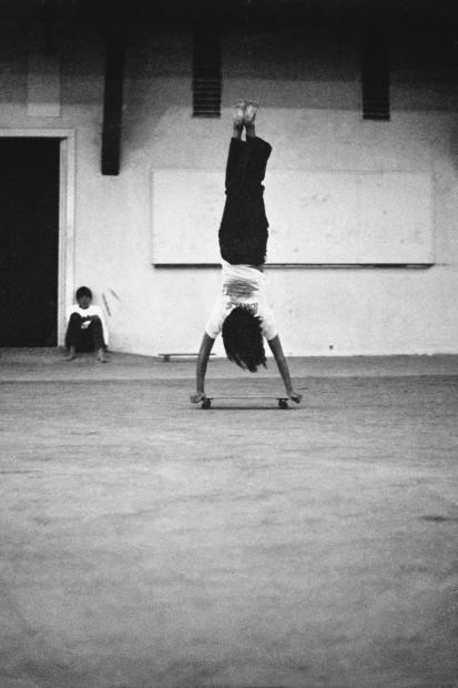 Hugh Holland, Huntington Beach Handstand, Huntington Beach, CA, 1975