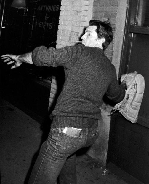 Ron Galella, Sam Shepard outside Ports restaurant, Los Angeles, January 27, 1982