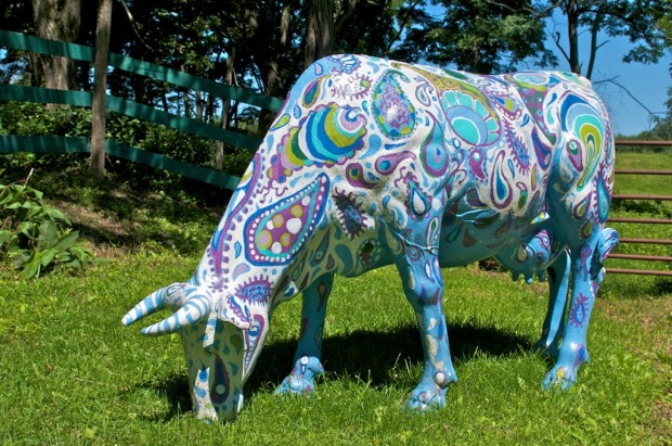 E. Tilly Strauss, 1 of 4 cows for Boston Cowparade, 2006
