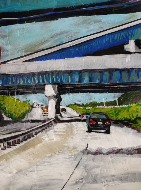 E. Tilly Strauss, Zig Zag Overpass, 2018