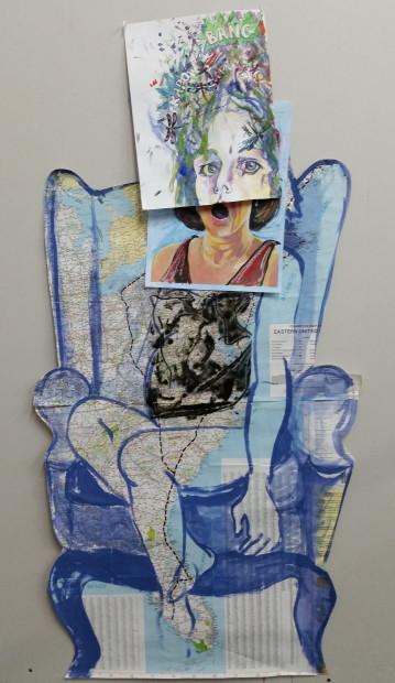 E. Tilly Strauss, Heart in NY /Foot in Miami, 2014