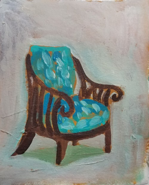 E. Tilly Strauss, Turquois cushions, 2018