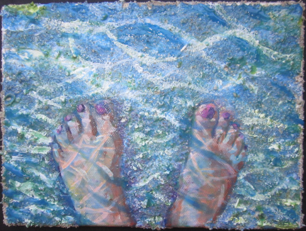 E. Tilly Strauss, Here I Am: Feet in the Sea, 2012