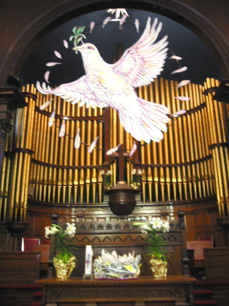 E. Tilly Strauss, Alter Dove, Poughkeepsie Congregational Church, 2009