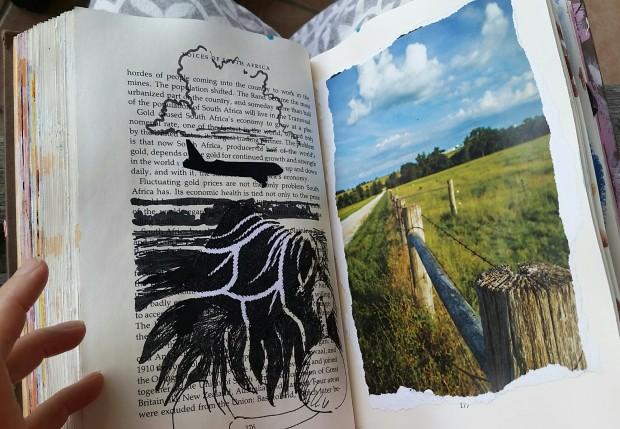 E. Tilly Strauss, fencepost sketch, 2016
